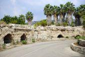 Road and aqueduct — Stock Photo