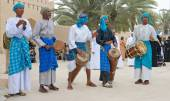 Omani Tribal Musicians — Stock Photo