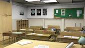Empty classroom interior — Stock Photo