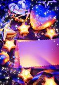 Art romantic christmas greeting card  — Stockfoto