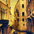 Art Gondolas and canals in Venice, Italy — Stock Photo #56883443