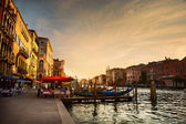 Grand Canal after sunset, Venice - Italy — Stock Photo