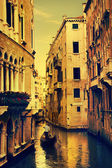 Art Gondolas and canals in Venice, Italy — Stock Photo