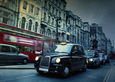 London Street. Taxis — Stock Photo