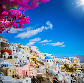 Art view of Fira town - Santorini — Stock Photo
