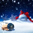 Art snow christmas background  new years eve — Stock Photo #57463821