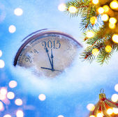 Art 2015 christmas and new years eve   — Stock Photo