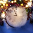 Art Christmas Eve and New Years at midnight — Stock Photo #60048143