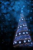 Art Christmas tree light background — 图库照片