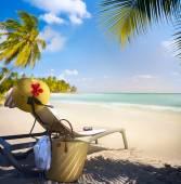 Art Vacation on summer Beach Paradise — Stock Photo