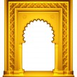 Oriental style gold frame — Stock Photo #60431845
