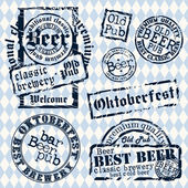 Set of beer tags — Stock Vector
