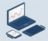 Cartooned Laptop and Tablet Computers for Work — Vecteur