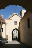 Gates of Basilian Monastery — Stock Photo