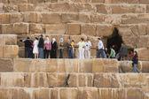 Tourists near the Great Pyramid — Stock Photo