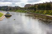 Neris river — Stock Photo