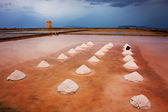 Mounds of salt in the Museum of Salt — Stock Photo