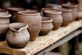 Pottery in crafts fair — Stock Photo
