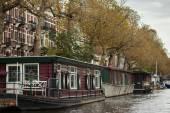Amsterdam houseboats — Stock fotografie