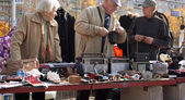 Flea market in Vilnius — Stock Photo