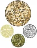 Celtic Coin Ornament — Stock Vector