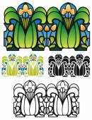 Art Nouveau style border ornament — Stock Vector