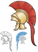 Greco-Roman style helmet — Stock Vector