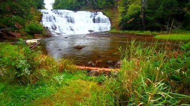 Agate Falls Northern Michigan — Stock Video