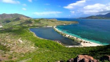 Saint Kitts Beach Landscape — ストックビデオ