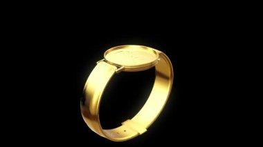 Gold wristwatch — Stock Video