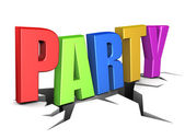 Party sign — Stock Photo