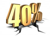40 percent — Stock Photo