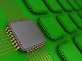 Main chip — Zdjęcie stockowe