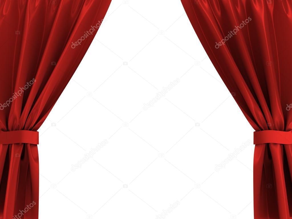 фото шторы красные