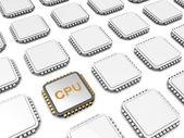 Cpu microchip — Stock Photo