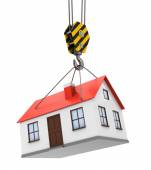 House and crane hook — Stock Photo
