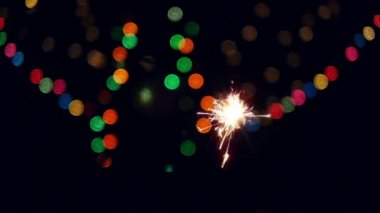Cristmas Bengal sparks — Wideo stockowe