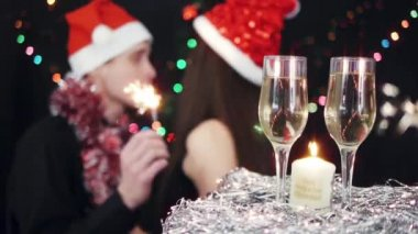 Christmas party celebration — Stock Video