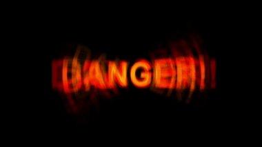"Word "" danger "" on black background — Stock Video"
