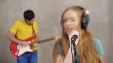 Musician rock band — Stock Video
