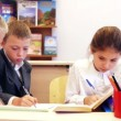 Pupils writing task — Stock Video #66470295