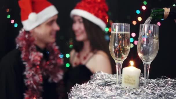 Célébration de fête noël — Vidéo