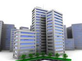Urban city buildings — Stockfoto