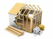 Frame house construction — Stock Photo