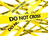 Do not cross tape — Stock Photo