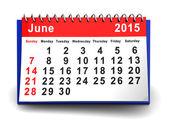 června 2015 kalendář — Stock fotografie