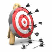 Darts and target, loosers concept — Stock Photo