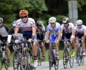Amateur Cyclists Team — Stock Photo