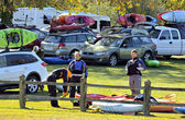 Kayaks at an Event — Stock Photo