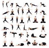 Woman training yoga — Stock Photo